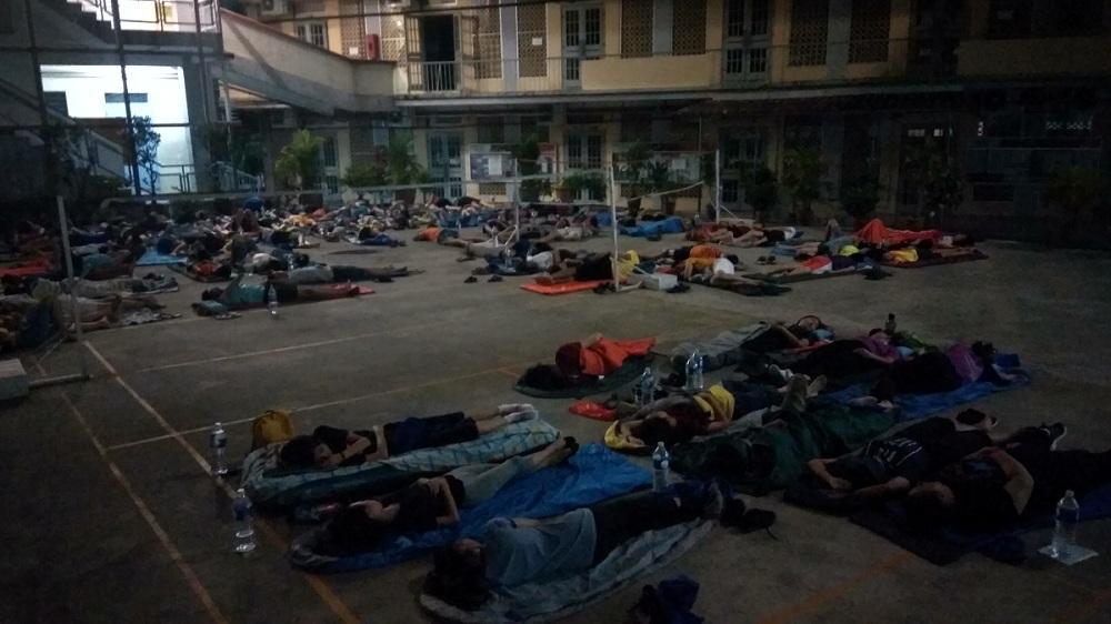 BNTC Trainees Sleeping Under the Stars
